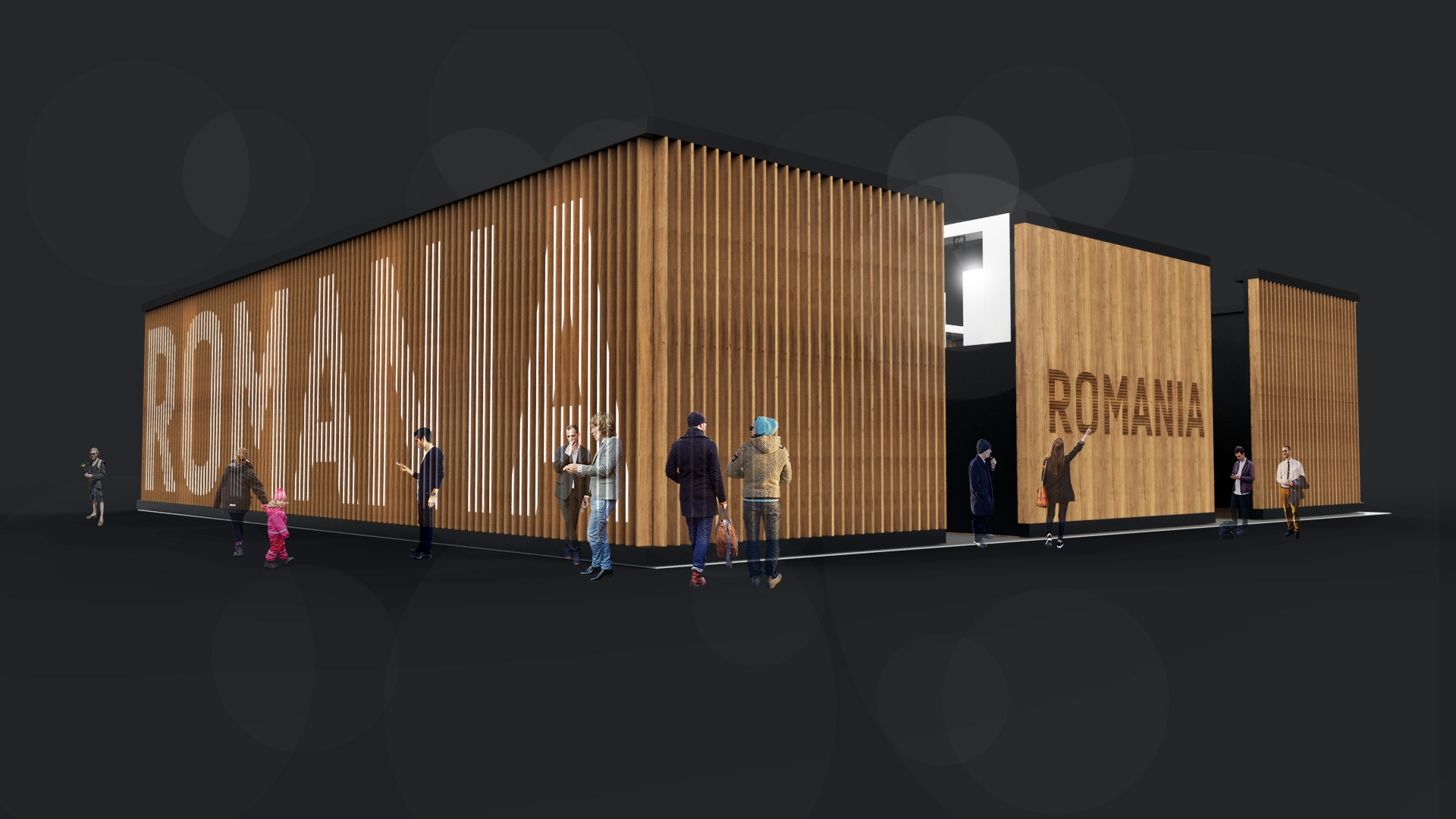 Exhibition Booth Design Concept : Design concept for the romanian furniture manufacturers